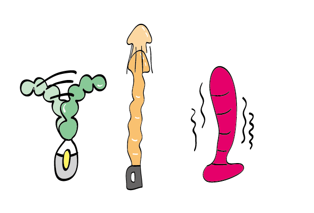 Different function by anal vibrators