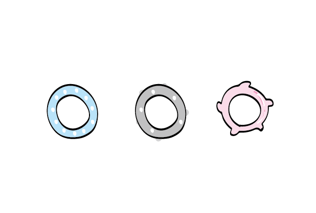 Different material of vibrating cock rings