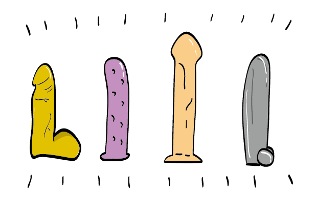 Types of large dildo