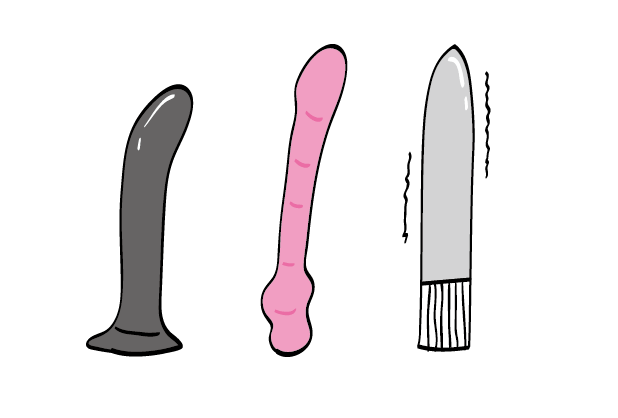 Types of non realistic dildo
