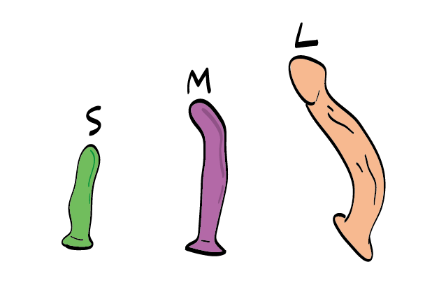 Types of silicone dildo
