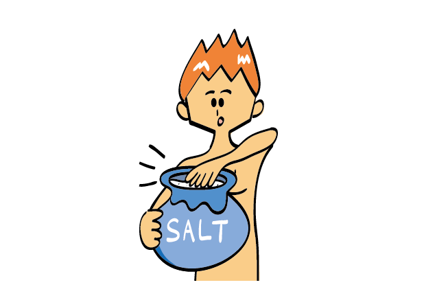 Rinse cleanly with salt!